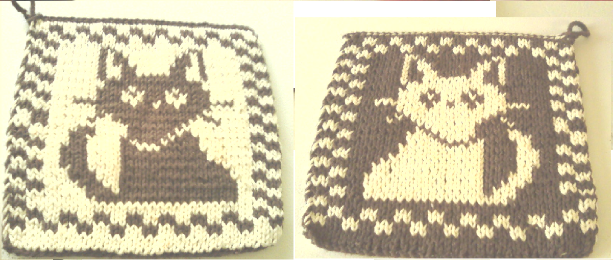 Cat Pot Holder double knit | sg-creations