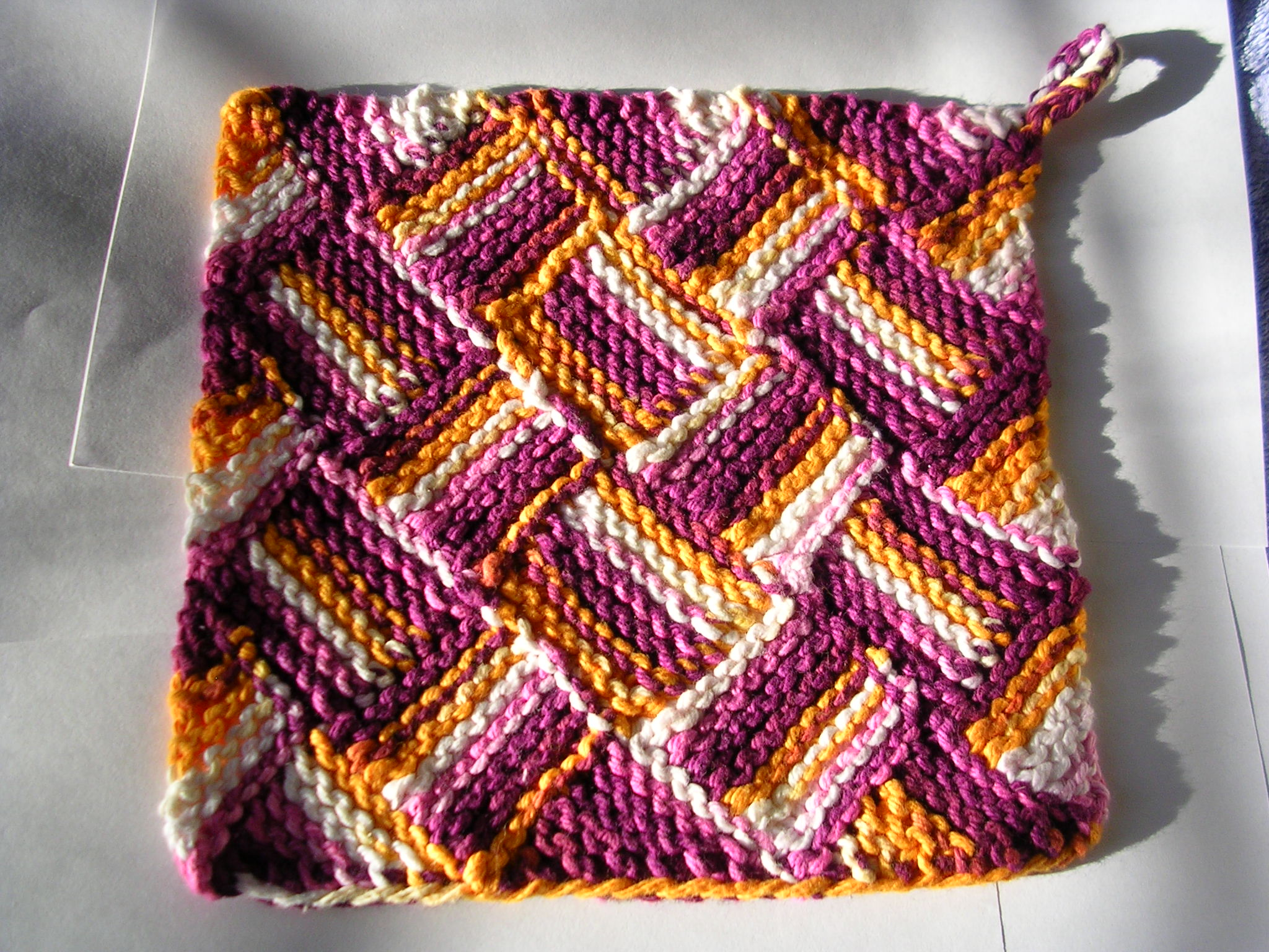 Knitting Pattern Using Cotton Yarn : garterlac dish cloth sg-creations