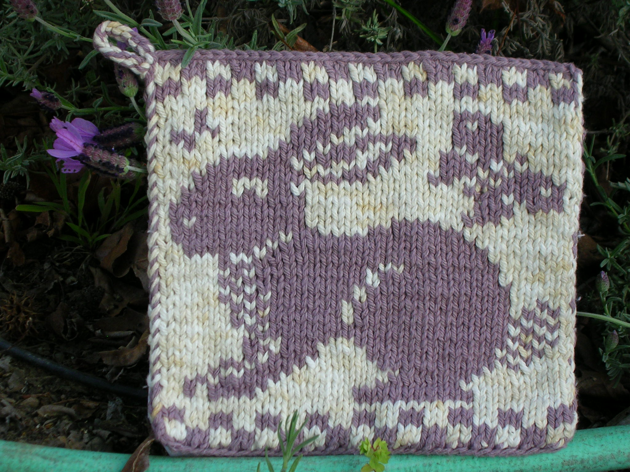 Rabbit and Butterflies Potholder | sg-creations
