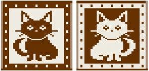 2 colored cat