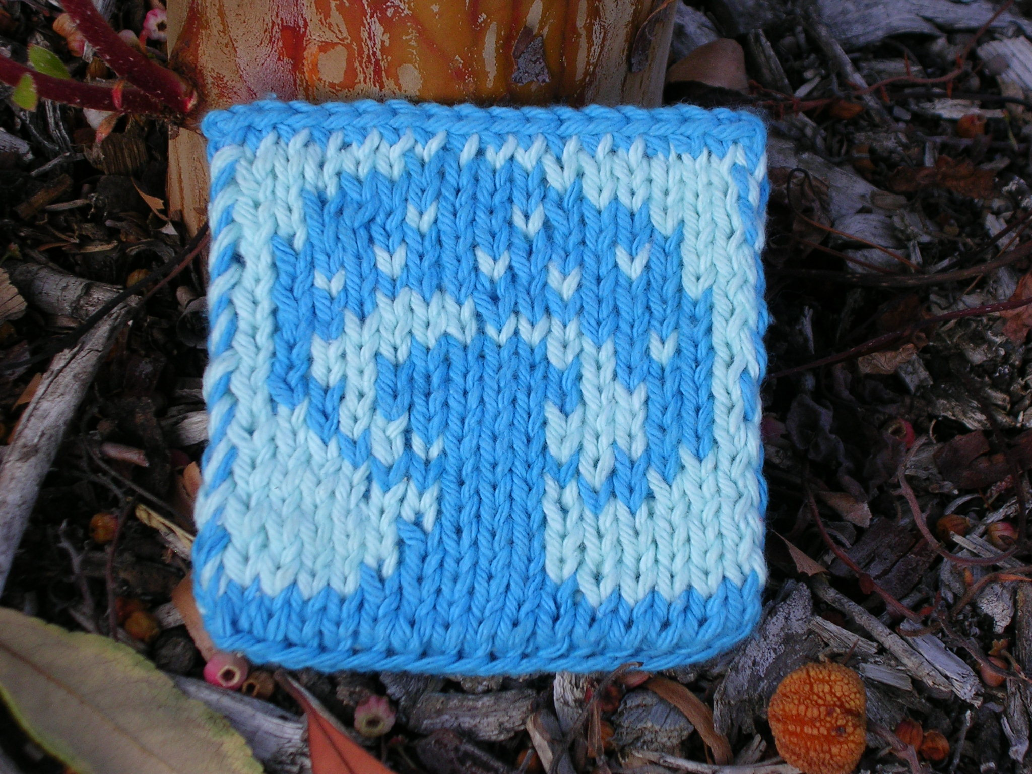 Free Knitting Patterns For Coasters : mushroom double knit coaster - free pattern sg-creations