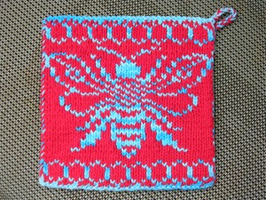 Bee Hive Double Knit Pot Holder